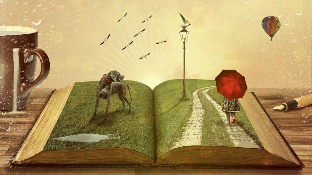 Libro abierto al interpretar los sueños